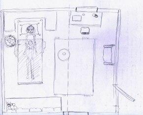 Plan chambre de Marie