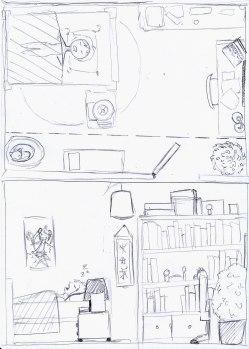 Plan et coupe chambre de Virginie