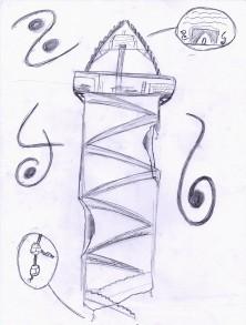 détail de la tour