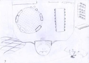 plan et détails salle de vie